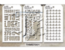 MTHS001 Stampers Anonymous Tim Holtz Layering Stencil - Mini Stencil Set #1